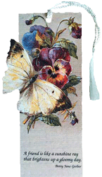 Butterfly Pansies Friend Bookmark