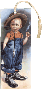Boy Smoking Bookmark