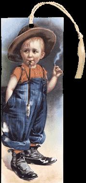 Boy Smoking Bookmark