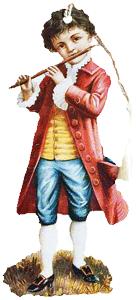 Boy w/Flute Bookmark
