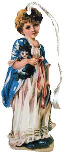 Girl w/Kitten Bookmark