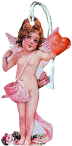 Cupid w/Heart Bookmark