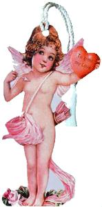 Cupid w/Heart Bookmark
