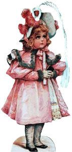 Girl in Pink Coat Bookmark