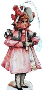 Girl in Pink Coat Bookmark
