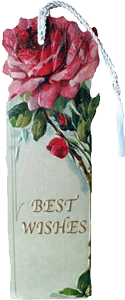 Best Wishes Rose Bookmark