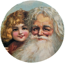 Santa & Child Hot Pad & Coasters