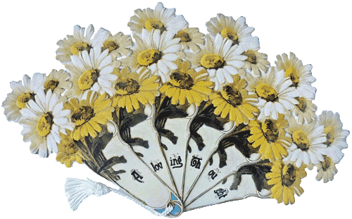 A Loving Thought Daisy Victorian Fan Greeting