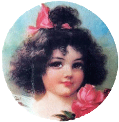 Victorian Girl Hot Pad or Coasters