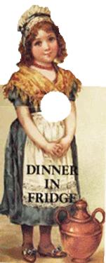 Dinner in Fridge Knob Note