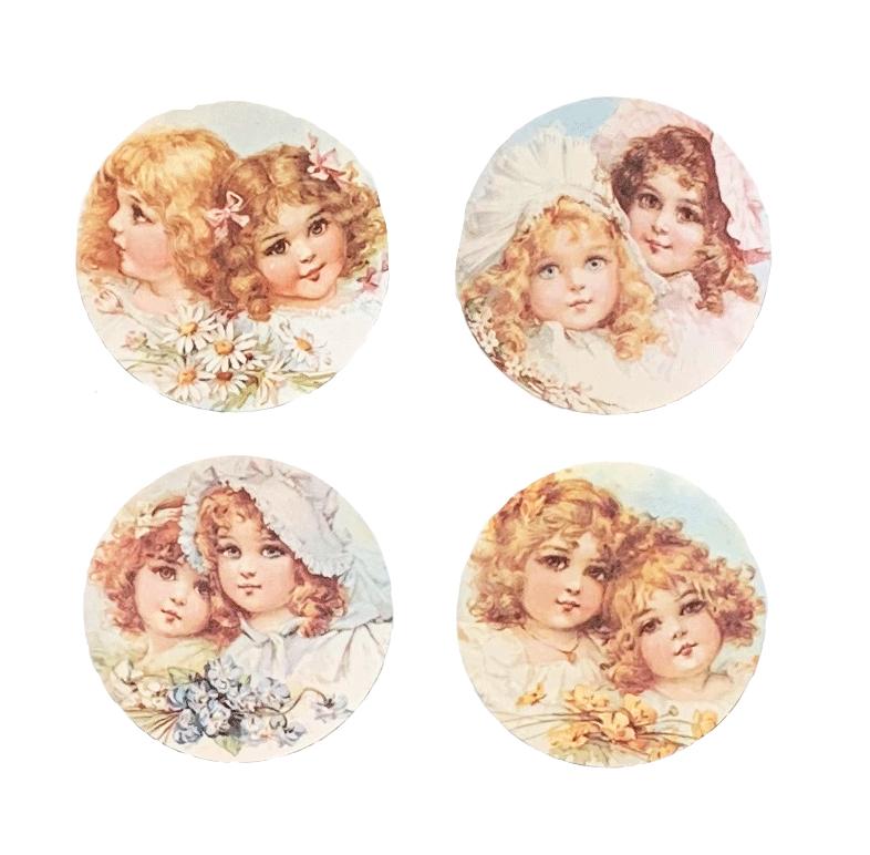 Bonnet Flower Girls Mirror