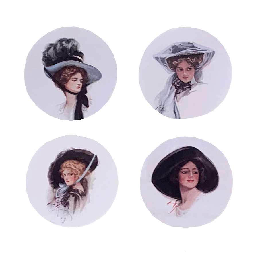 Victorian Ladies in Hats Mirror