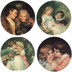 Children Sweethearts Mirror