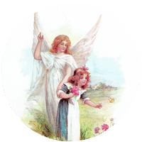 Guardian Angel in Meadow Mirror