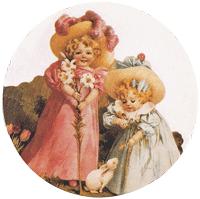 Maud Humphrey Girls Mirror