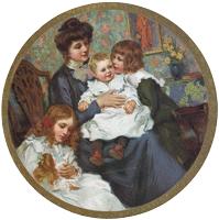 Mother w/Children Mirror