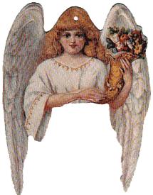 Angel w/Cornucopia Flowers