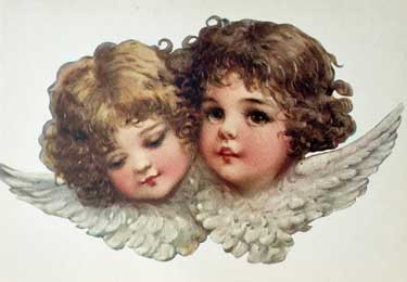 angel faces postcard