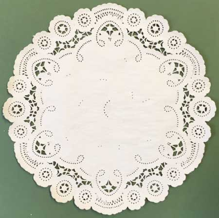"""10"""" Beige French Lace Paper Lace Doilies"""