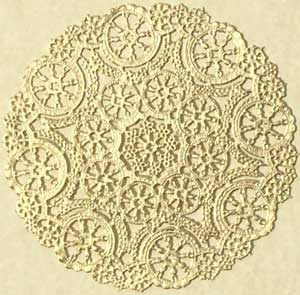 Gold Metallic Foil Medallion Paper Lace Doilies