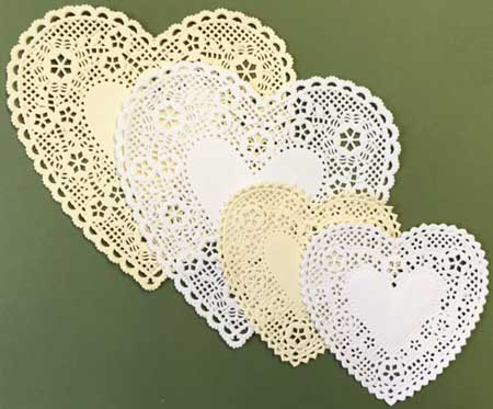 Heart Shape Paper Lace Doilies