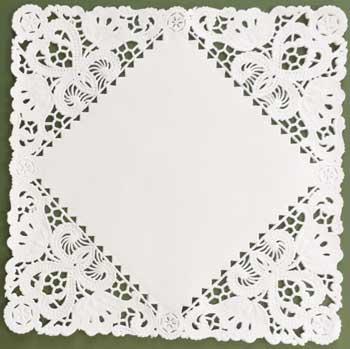Dainty Square Paper Lace Doilies