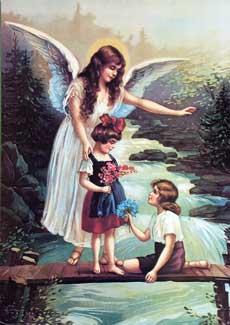 Guardian Angel Children On Bridge
