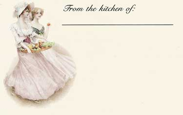 Victorian Ladies Recipe Cards