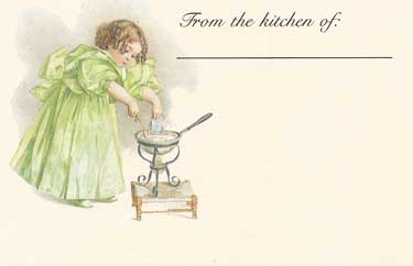 Little Girl Cooking Recipe Cards