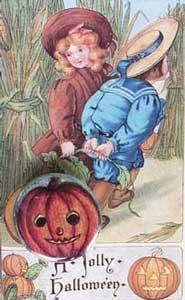 A Jolly Halloween Button Card