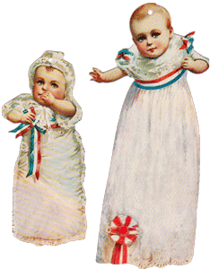 Babies in Gowns Tags