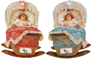 Baby in Cradle Tags