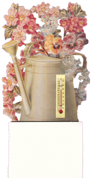 Watering Can w/Flowers Notepad