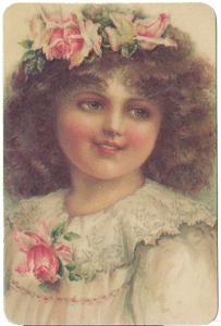Girl w/Roses in Hair Verse Card
