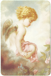 Cherub w/Wings Verse Card