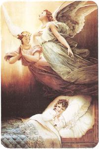 Angels Over Sleeping Girl Verse Card