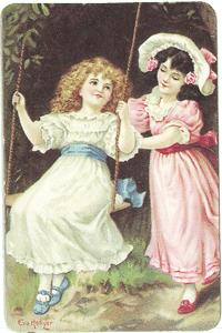 Girl on Swing Verse Card