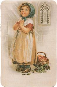 Girl Praying Verse Card