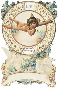Cupid Mechanical Calendar