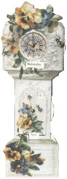 Pansy Clock Mechanical Calendar
